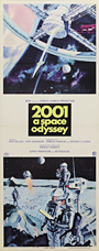 thumbnail link to original 1968 2001 A Space Odyssey insert poster