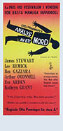 thumbnail link to original 1959 Swedish poster Anatomy of a Murder, Saul Bass graphic