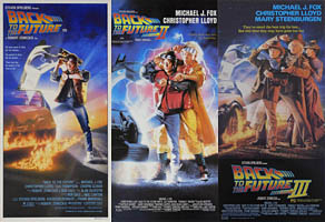 thumbnail link to original Australian daybill posters Back To the Future Parts I, II and III
