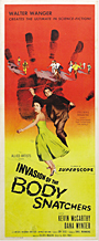 thumbnail link to original 1956 Invasion of the Body Snatchers insert poster