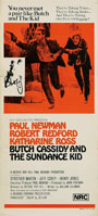 thumbnail link to original 1973 re-release Australian Daybill poster Butch Cassidy and the Sundance Kid