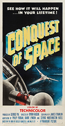 thumbnail link to original 1955 3 Sheet poster Conquest of Space