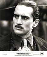 thumbnail link to original 1974 The Godfather Part II original Paramount still Robert De Niro portrait.