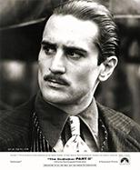thumbnail link to original 1974 The Godfather Part II original Paramount still Robert De Niro portrait.