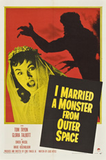 thumbnail link to original 1958 US 1 Sheet poster I Married a Monster From Outer Space