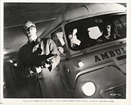 thumbnail link to original 1965 Ipcress File still, car park confrontation.