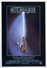 original 1983 Return of the Jedi style A 60x40 poster