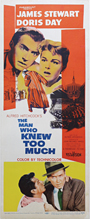 thumbnail link to original 1956 The Man Who Knew Too Much insert poster