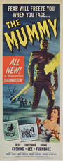 thumbnail link to original 1959 The Mummy Hammer US insert poster