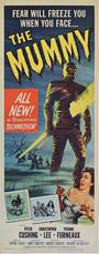 thumbnail link to original 1959 The Mummy Hammer US insert poster