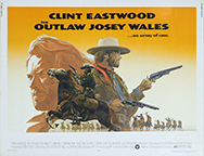 thumbnail link to original 1976 U.S. half sheet poster The Outlaw Josey Wales