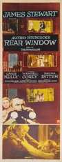 thumbnail link to original 1954 insert poster Rear Window