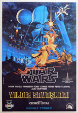 thumbnail link to original 1978 Turkish Star Wars 1 sheet poster Hildebrandt art