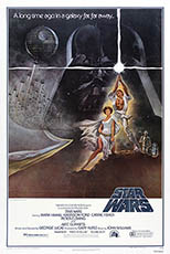 thumbnail link to original 1977 Star Wars style A 1 sheet poster