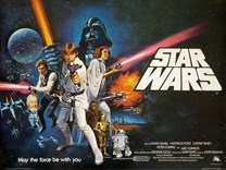 thumbnail link to original 1978 UK Star Wars pre-Oscars Tom Chantrell artwork quad poster