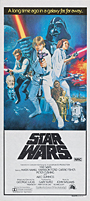 thumbnail link to original 1977 daybill poster Star Wars Tom Chantrell Style C artwork