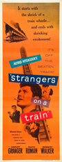 thumbnail link to original 1951 Strangers on a Train insert poster