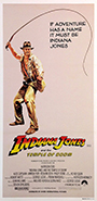 thumbnail link to original 1984 daybill poster Indiana Jones and the Temple of Doom