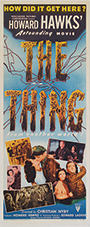 thumbnail link to original 1951 insert poster The Thing From Another World