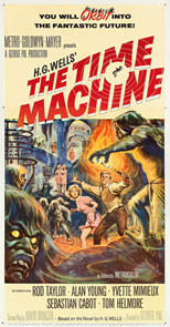 thumbnail link to original 1960 U.S. Three Sheet poster The Time Machine