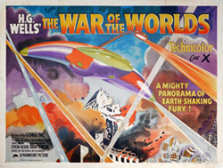 thumbnail link to original 1953 UK Quad poster The War of the Worlds