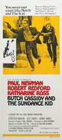 thumbnail link to original 1969 daybill poster Butch Cassidy and the Sundance Kid