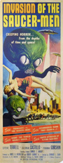 thumbnail link to original 1957 insert poster Invasion of the Saucer-men