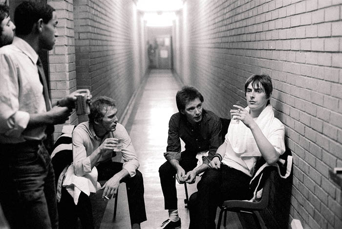 The Jam backstage at Sobell Centre
