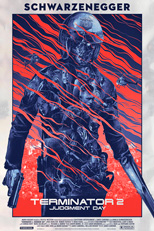 thumbnail link to original 2014 Gabz Terminator 2 foil variant poster, limited edition 44 out 50