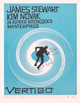 thumbnail link to Vertigo original blue 1 sheet trade ad Saul Bass.