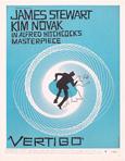 thumbnail link to Vertigo original blue 1 sheet trade ad Saul Bass.