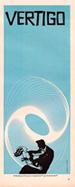 thumbnail link to Vertigo original blue 3 sheet trade ad Saul Bass.