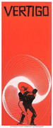 thumbnail link to Vertigo original red 3 sheet trade ad Saul Bass.